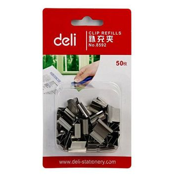 VONC1Y 50 Pcs/Pack Deli Quality Metal Paper Clip Refills Binding Office School Supplies Stationery Accessories