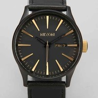 Nixon Sentry Leather Watch- Black One