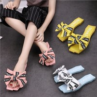 Casual Fashion Women Bow Sandal Slipper flat Shoes