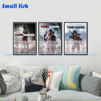 Rise of The Tomb Raider Game 2019 calendar poster Home Furnishing decorative white coated paper Wall Sticker Home Decora