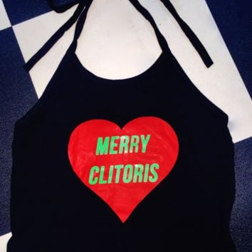 SWEET LORD O'MIGHTY! MERRY CLITORIS HALTER IN BLACK