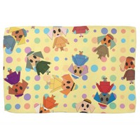 Origami colorful dog pattern kitchen towels