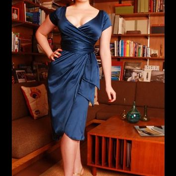 Ava Dress in Teal by Pinup Couture - Dresses - Clothing | Pinup Girl Clothing