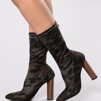 Ella Boot - Green Camo