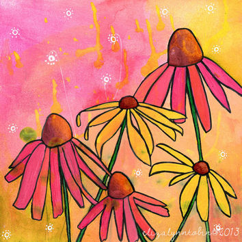 August Dream Flower Art Print
