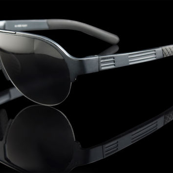 "Aluminum Frame Aviator Sunglasses UV400 ""JET"""