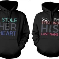 Stealing His Last Name Matching Couple Hoodies