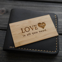 Personalized Wallet Card , Custom Wallet Insert Card , Engraved Wallet Card , Mens Gift , Anniversary Gift for Men Women , Father of Bride