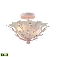 Circeo 2 Light LED Semi Flush In Light Pink
