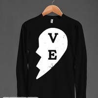 "Love """"ve"""" Couples Shirt-Unisex Black T-Shirt"