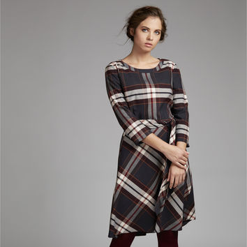 Fit and Flare Check Dress