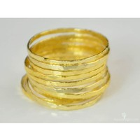 Super Thin Golden Silver Stackable Rings - Set of 4