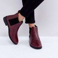 Faith Binkie Oxblood Leather Chelsea Boots at asos.com