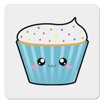 "Cute Cupcake with Sprinkles 4x4"" Square Sticker by TooLoud"