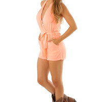 High Standards Romper: Peach