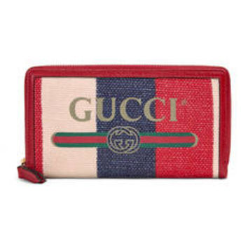 Gucci - Gucci Print zip around wallet