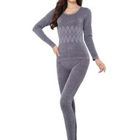 Thermal Underwear Women Long Johns Sets Ladies Body Shaped Winter Long Sleeve Warm Clothing Femme Clothing Pants Tops