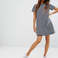 Jack Wills Oversized Stripe Dress with Pockets at asos.com