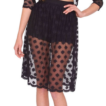 Endless Lace Skirt - Black