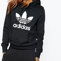 Trendsetter ADIDAS Women Fashion Hooded Top Sweater Pullover Sweatshirt
