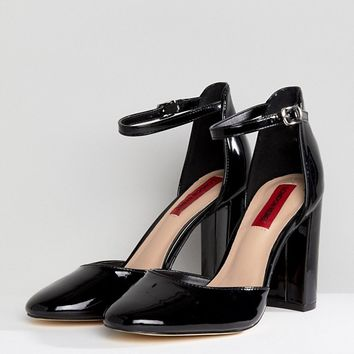 London Rebel Block Heel Shoe at asos.com