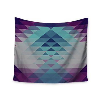 "Nika Martinez ""Hipster Girl"" Blue Lavender Wall Tapestry"