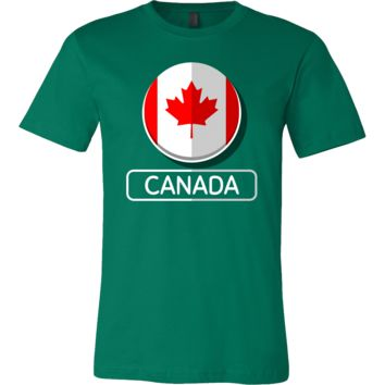 Flag Of Canada Maple Leaf Retro Canadian Tee Shirt