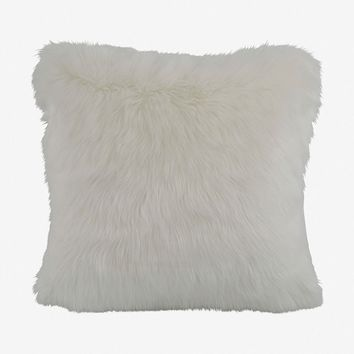 Rorik Faux Fur Pillow - White