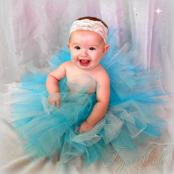Baby Girl Tutu Skirt, Full Blue Tutu, Toddler Girls Birthday Tutu, 1st Birthday Outfit, Baby Girl Coming Home Outfit, Tutu Outfit, Blue Tutu
