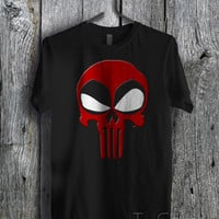 Deadpool Red Logo - zzz Unisex Tees For Man And Woman / T-Shirts / Custom T-Shirts / Tee / T-Shirt