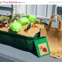 Vegetable Garden Farmer's Market Playset--Tote Bag, Seed Packet and Seeds Included