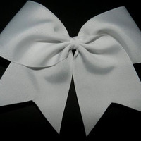 Basic White Cheer Bow