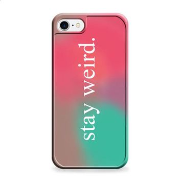 Stay Weird Pink and Green Ombre iPhone 6 Plus | iPhone 6S Plus case