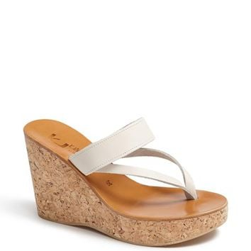 K.Jacques St. Tropez 'Saturnine' Cork Wedge