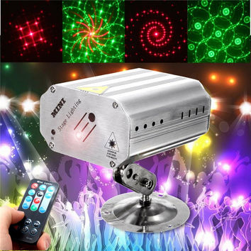 Mini LED RGB Stage Light Projector Laser Stage Lighting Effect Adjustment DJ Disco Party Club KTV Decor Lamp Bulb US EU Plug