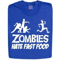 Stabilitees Funny Zombies Hate Fast Food Womens T Shirts