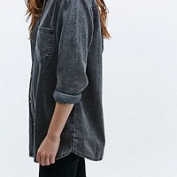 BDG Denim Shirt in Acid Black - Urban Outfitters