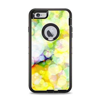The Glistening Colorful Unfocused Circle Space Apple iPhone 6 Plus Otterbox Defender Case Skin Set
