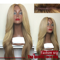 ombre blonde wig Synthetic hair full Lace Front wigs