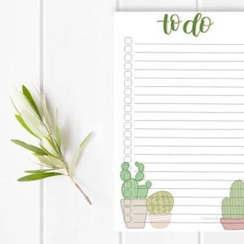 Cactus To-Do Notepad