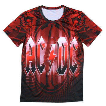 Novelty Design 3d AC DC Bell Skull Mens t-shirts Chain acdc bell I Got My Bell Gonna Take Ya To Hell Casual Brand 3D Men t shirt