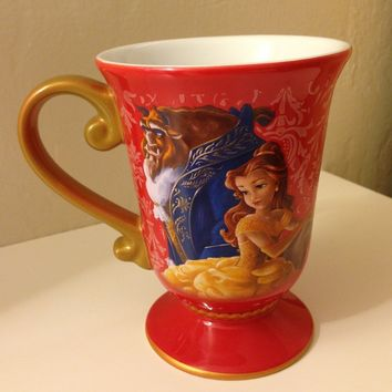 Disney Store Disney Fairytale Designer Collection Princess Belle and Beast Mug: Beauty and the Beast Coffee Cup