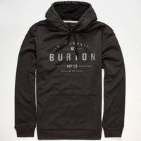 Burton Crown Bonded Mens Hoodie Heather Black  In Sizes