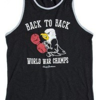 Back to Back World War Champs -Eagle Edition- Tank Top in Black by Rowdy Gentleman