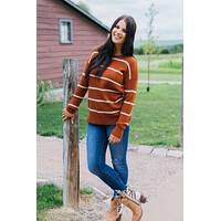 Hayden Sweater- Copper/Oatmeal