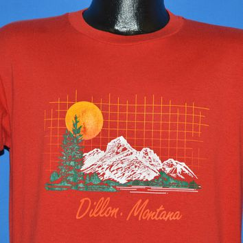 80s Dillon Montana Geometric Sunset t-shirt Large
