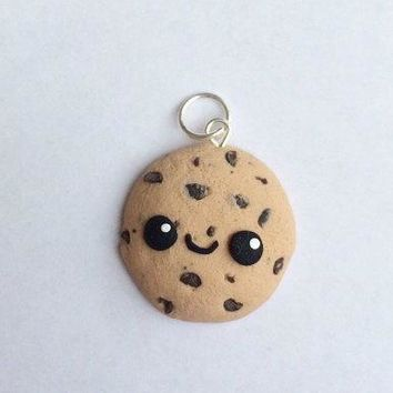 Polymer Clay Kawaii Cookie Charm Cookie Charm Chocolate Chip Cookie Polymer Clay Charm Polymer Clay Charms Cookie Charm Clay Food