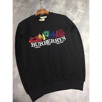 Burberry Woman Men Fashion Embroidery Top Sweater Pullover