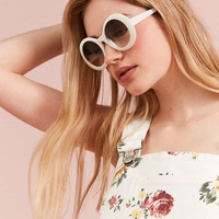 Edie Retro Round Sunglasses - Urban Outfitters
