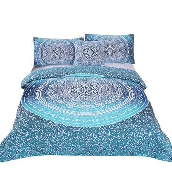 Geometric Print Bedding Set (Super Soft Duvet Cover with Pillowcases)